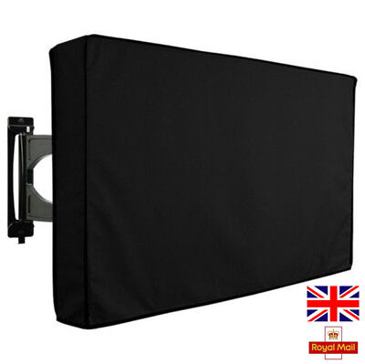 Outdoor TV Cover Black Weatherproof Universal Protector For 22'' to 70'' LCD LED