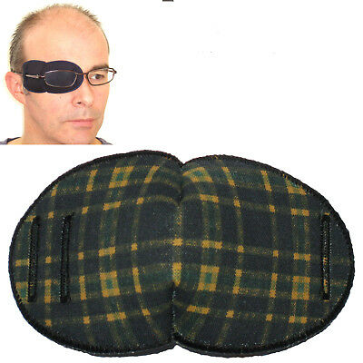 Medical Eye Patch for Glasses, TARTAN - Large Sold to the NHS