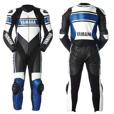 Yamaha Racing Motorcycle Leather Suit Motorbike Men Leather Jacket Trouser