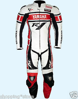 Yamaha Racing Motorcycle Leather Suit Motorbike Leather Biker Men Jacket Trouser