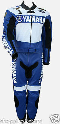 Yamaha Motorcycle Leather Suit Motorbike Men Racing Leather Jacket Trouser