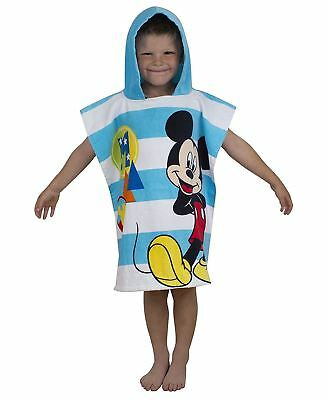 Kids Multi Color Disney Mickey Mouse Boo Printed Hooded Poncho Boys Girls Towel