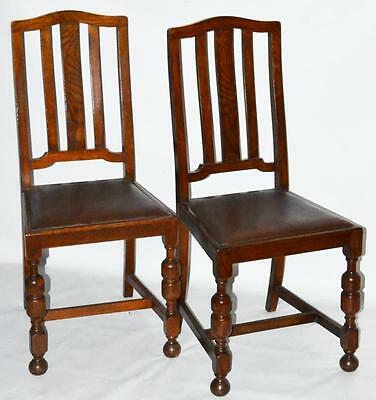 Set of 2 Vintage English Oak Dining Chairs - FREE Shipping [PL592A]