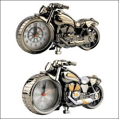 Motorcycle Desk Alarm Clock, Retro Harley Davidson Style, Decor, New In Box.