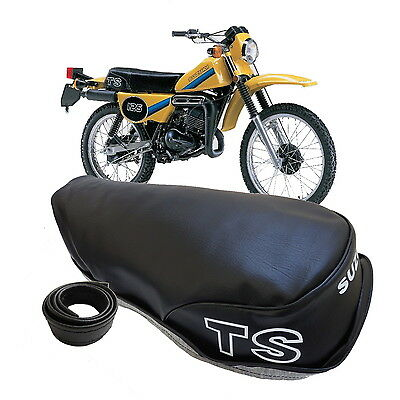 Suzuki Ts125 Er Ts185 Er 1980-1982 Seat Cover & Strap ,ts Logos To Sides Ts 125