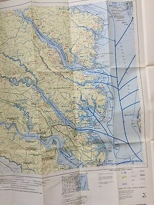 1980 US Fish & Wildlife Richmond VA Atlantic COAST ECOLOGICAL INVENTORY Map