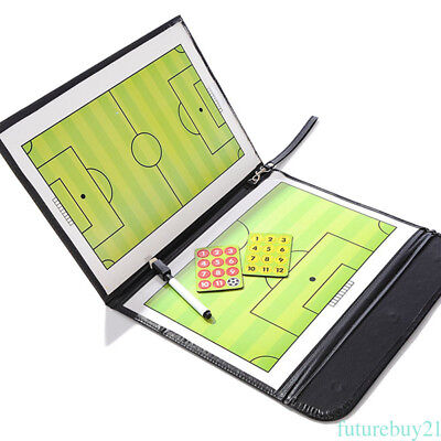 Magnetic Football Soccer Coach Coaching Aid Erase Clipboard Tactical Board AU