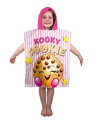 Girls Boys Shopkins Shopaholic Poncho Cookie Kids Hooded Poncho Towel