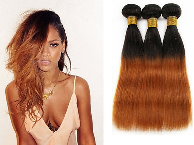 Ombre Tie And Dye __Cheveux 100% Naturels Bresiliens ___Extension Tissage