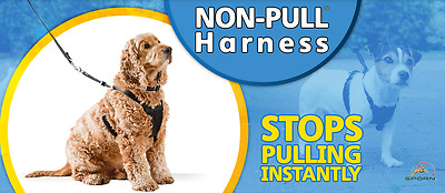 Sporn Non Pull Padded Dog Harness - Small Medium Large - Stops pulling training