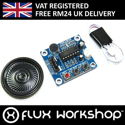 Vocal Recording Module 0.5W Speaker ISD1820 SPI 20s Arduino 1700 Flux Workshop
