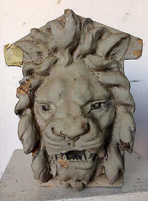 Reclaimed Distressed Architectural Lion Head Project or Garden Component 12 x 6