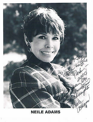Neile Adams American Actress and Singer  Hand Signed Photograph 10 x 8