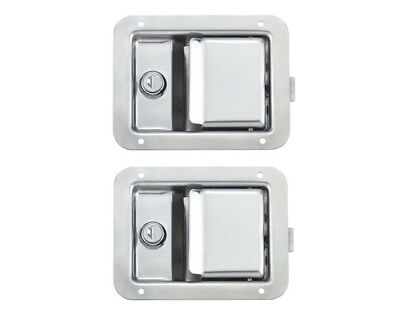 2 x Paddle Lock Stainless Steel Recessed Flush Fit Surface Mounted Truck Horse