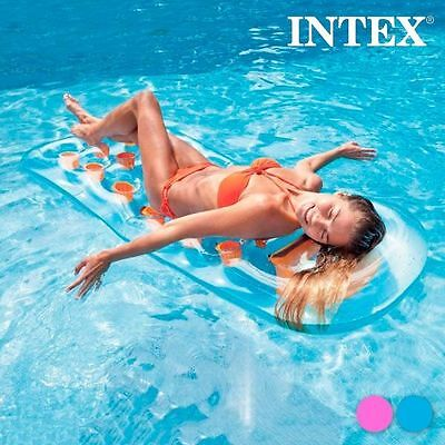 Materassino Gonfiabile Holes Intex; Azzurro