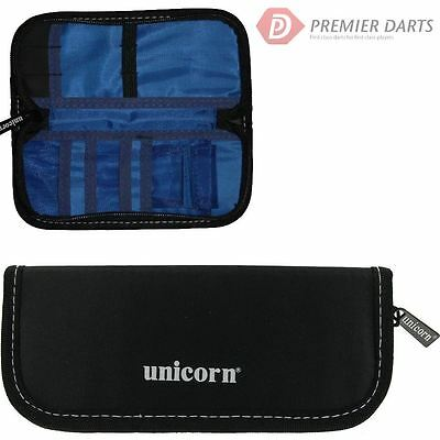 Unicorn Midi Compact Darts & Accessory Case Wallet Small Black/Blue/Silver