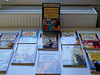 Horrible Histories 10 Book Boxset History With The nasty Bits Left In. New.
