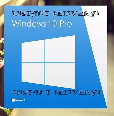 Instant Genuine Windows 10 Pro 32 / 64 Bit Professional License Key Code Oem