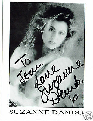 Suzanne Dando Model Gymnast TV personality Hand Signed Photograph 8 x 6.