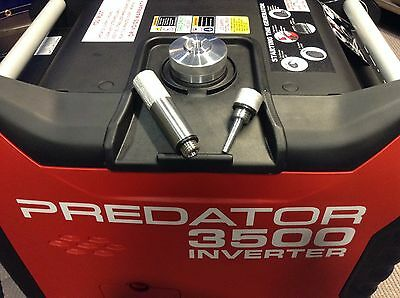 Predator 3500 Watt Generator Ext Run Gas Cap Oil Fill Drain Plug Combo Kit