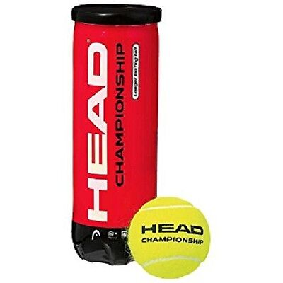 NEW HEAD Tennis Balls 4B Championship x 3 - Longer Lasting Felt Yellow