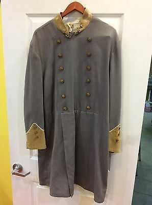 Men's Old Time Photo Costume Confederate Tunic Xl Central Casting Prof Bloodgood