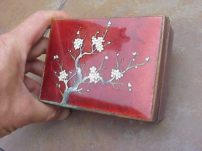 Original Antique Enamel Japanese Box