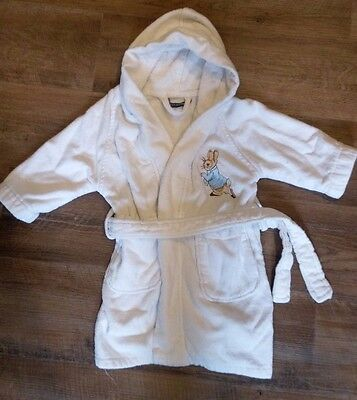 Christy Peter Rabbit soft cotton luxury boys/girls dressing gown 1-2 years