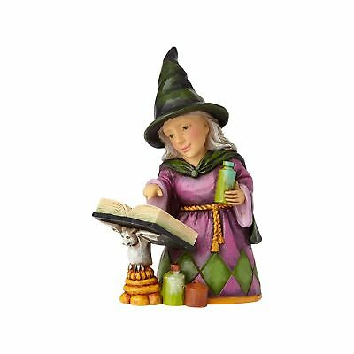 Enesco H7 Jim Shore Heartwood Creek Halloween Mini Witch with Spell Book 4058851