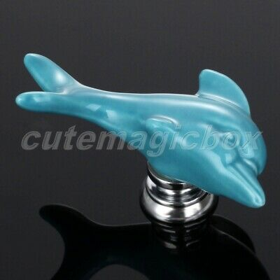 Unique Dolphin Ceramic Door Pulls Handles Kitchen Cabinet Drawer Cupboard Knobs