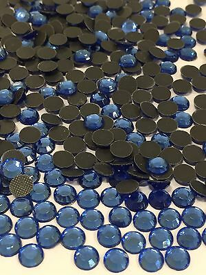 Sapphire Blue Glass High Quality Hot Fix/ Iron On Crystal Diamante Rhinestones