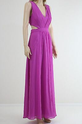 ASOS Women's Pink Color Side Cut Out Maxi Cocktail Sleeveless Dress UK SIZE 14