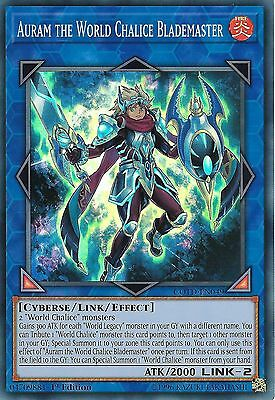 3 X YU-GI-OH: AURAM THE WORLD CHALICE BLADEMASTER  -SUPER RARE COTD-EN049 1st ED