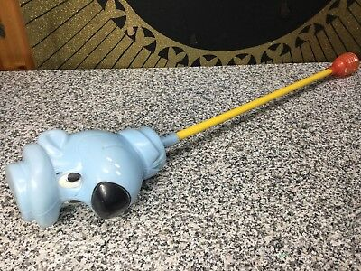 Vintage NOS Unused 1961 A.J. Renzi Huckleberry Hound Cartoon Stick Horse Toy
