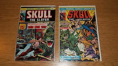 Skull The Slayer Marvel Comics 1975 Series #1 & 2 Gil Kane