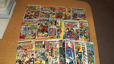 Marvel Triple Action 1972 Comic Series Lot Of 25 # 1,3,4,5 Many Others Avengers