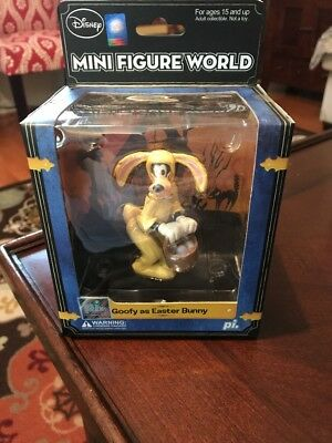 Disney Mini Figure World Goody As Easter Bunny Figure Toy PI NEW FREE SHIPPING