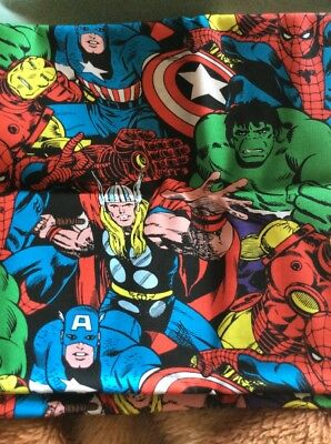 Marvel Superheroes Cotton Toddler Crib Sheet Fitted Handmade