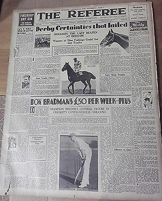 1931 The Referee ~ Sydney, 'don Bradman's Salary' ~ Full Newspaper 24 Pages