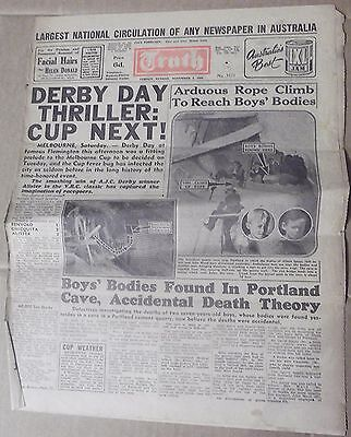 1950 The Truth~ Sydney 'derby Day Thriller' 4 Pages