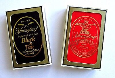 Two Decks Yuengling Playing Cards in Boxes - Porter and Black & Tan