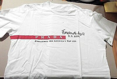 2000 America's Cup Challenge ~ Team Prada ~ Crew T-Shirt (M) ~ Signed By Skipper