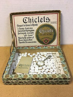 "Vintage Chiclets Chewing Gum ""complete"" Counter Display Box"