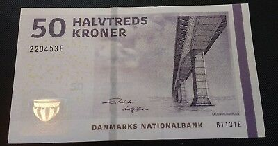 Denmark 50 Kroner, 2009(2013), UNC Banknote  Free Shipping