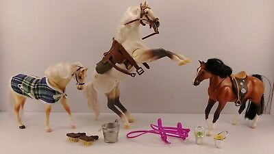 1997 Empire Grand Champion Toy Horses Lot Of (3) - Lightning Wildfire Firestreak