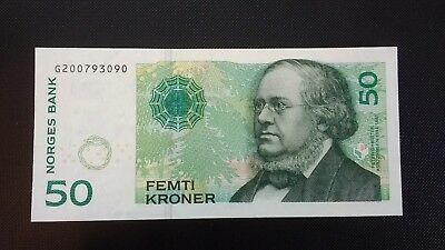 Norway, 50 Kroner, 2011, UNC Banknote, Free Shipping