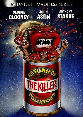 NEW DVD -  RETURN OF THE KILLER TOMATOES - George Clooney, John Astin, ADDAMS FA