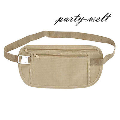 Travel Sports Money Belt Passport Wallet Pouch Card Waist Holder Unisex Bum Bag