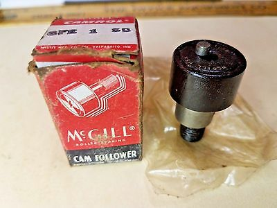 "McGill CFE 1 SB Stud Cam Follower, 1"" Roller Diameter, Hex Hole End - NIB"