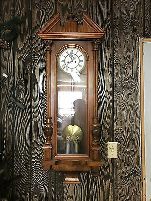 Antique 2 weight wall clock Vienna Regulator
